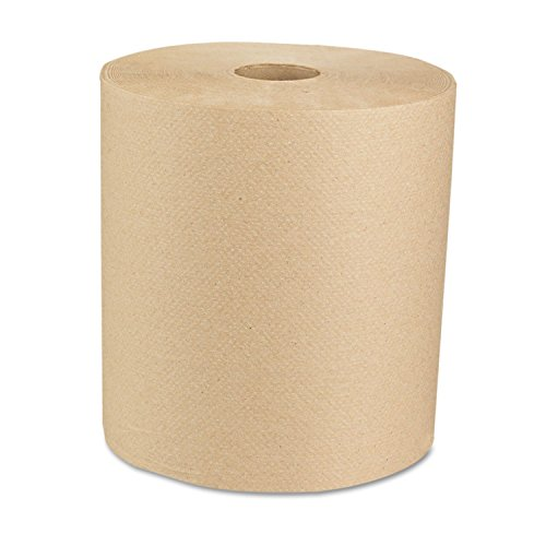 Boardwalk - Economy Recycled Hardwound Paper Towels, 1-Ply, 800 ft, Brown - 6 ()
