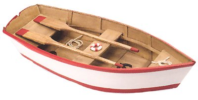 Wooden Model Rowboat W Paddles