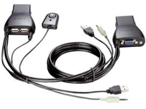 D-Link 2-Port USB KVM Switch with Audio Support (KVM-222)