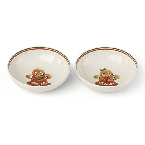 Lenox Home for the Holidays Gingerbread Bowl (Set of 2), Multicolor (Gingerbread Dinnerware Set)