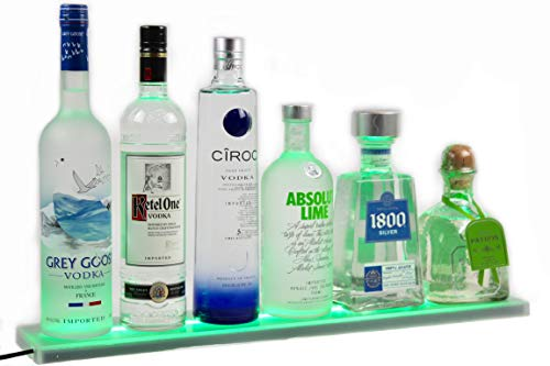 - Armana Productions 4 Foot Wall Mount LED Liquor Shelf - Made in The USA - Includes Wireless Remote Control, Wall Brackets and Hardware, and UL Listed Power Supply (48