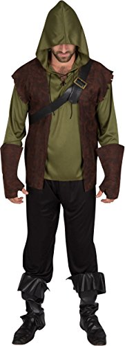 Capital Costumes Men's Authentic Robin Hood Costume, Large - Men's Robin Hood Costumes
