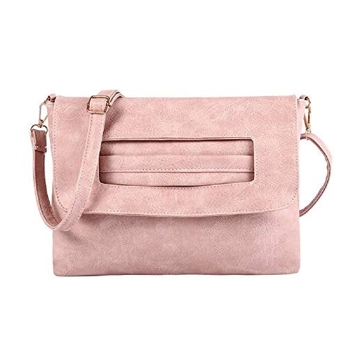 Purposefull Women's Crossbody Bag - Ladies Fashion Clutch Bag Pink