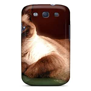 Galaxy S3 Case, Premium Protective Case With Awesome Look - Siamese Blue Eyed Cat