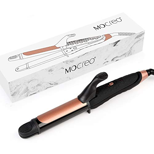 MOCREO Straightener and Curler, Mini Flat Iron Curling Iron Professional 2 in 1 Ceramic Tourmaline Coated Straightening Curling Iron Travel Dual Voltage(BLACK)