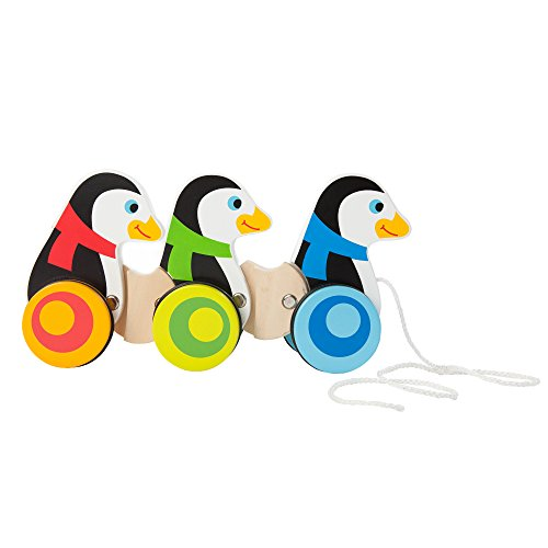 Fat Brain Toys Pull Along Penguins - Pull Along Penguin (Wobble Penguin)