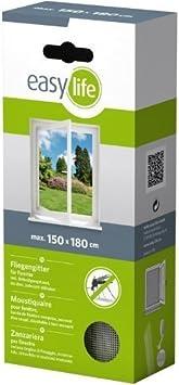 con velcro Fabulosa mosquitera el/ástica para la ventana 150 x 180 cm color blanco
