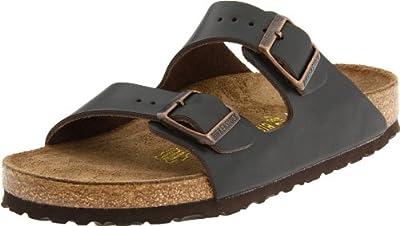 Birkenstock Unisex Arizona Men's Leather Sandal,Brown,44 M EU