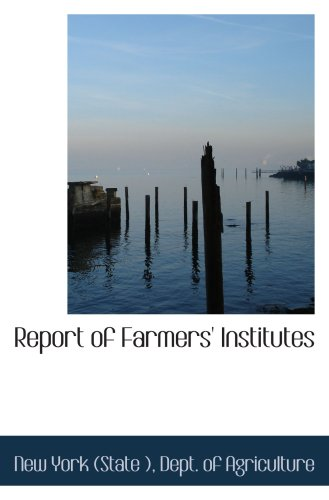 Download Report of Farmers' Institutes pdf epub