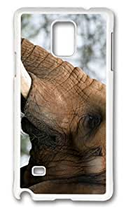 Adorable elephant head Hard Case Protective Shell Cell Phone HTC One M7 - PC White