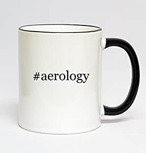 11oz Black Handle Hashtag Coffee Mug - #aerology