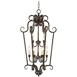"Mont Chambord 17"" Wide Iron Foyer Pendant Light"