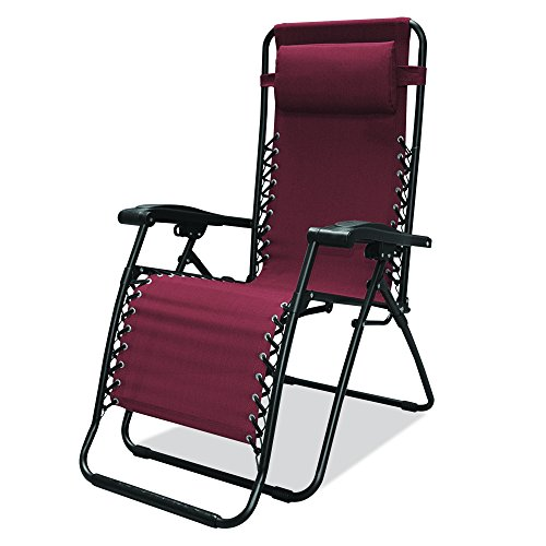 Caravan Sports Infinity Zero Gravity Chair  Burgundy