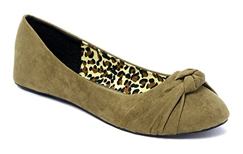 a7e7339c65b4 Charles Albert Women s Knotted Front Canvas Round Toe Ballet Flats ...