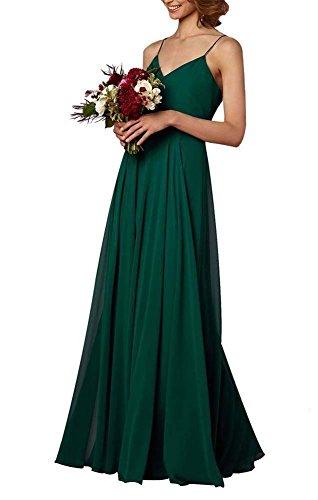 74046b7cc27 ... Women s Boho Chiffon Long Bridesmaid Dresses Spaghetti Straps Bohemian  Wedding Party Dresses (22W