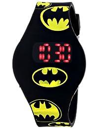 Batman Kids' BAT4146 Reloj con brazalete de hule negro
