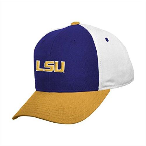 Lsu Tigers Purple Block (NCAA Youth Boys 8-20 LSU Tigers Color Block Adjustable Cap, 1S)