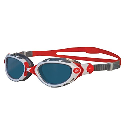 Zoggs Predator Flex Polarized Goggles (Red White)