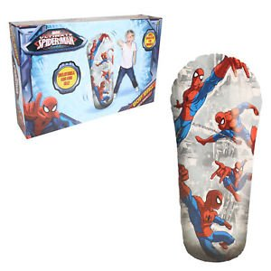 (Holland Plastics Original Brand Official Ultimate Spiderman Bop Bag! Inflatable Fun For all Ages!)