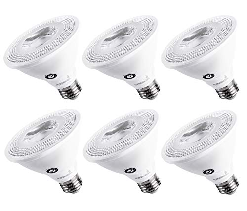 Hyperikon PAR30 Short Neck LED Bulb, Dimmable, 10W (65W Equivalent), 2700K (Warm White), 800 lm, CRI 90+, Flood Bulb, Medium Base (E26), UL & ENERGY STAR - Great for Living Room, Basement (6 Pack)