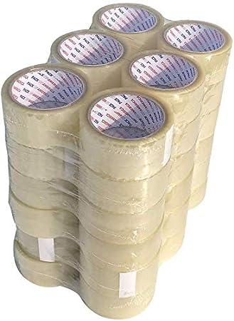 """NEW 36 Roll Brown Tan Carton Sealing Packing Tape Shipping 2/"""" 1.8 Mil 55 yard"""