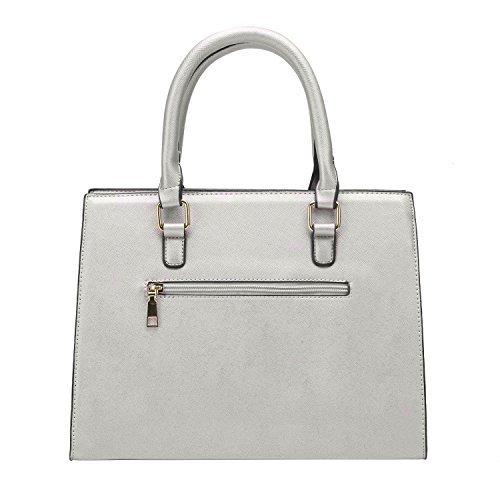 5PCS Newbestyle PU Handbags Women Set Crossbody Grey Women Wallet Newbestyle Tqxvw00