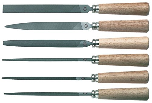 C. K Tools T0120P Warding File Set with Wooden Handles, 6 Piece