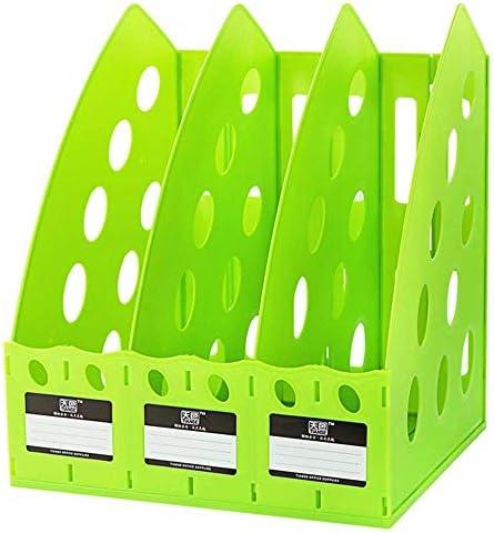 AGWa Zeitungsständer, Schreibtisch-Dateiorganisator, multifunktionales, dickes 3-teiliges Trennwandregal aus Kunststoff Kunststoff Home Office Desktop-Speicherregal