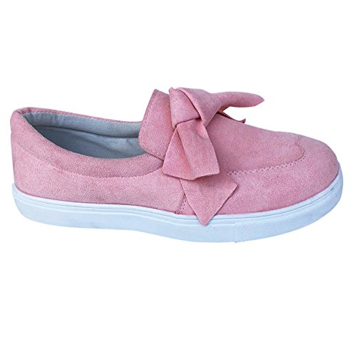 Femmes Yesmile Bowknot Rose Sneakers Femmes on Slip De Chaussures Casual Mode Plat Chaussures Filles 4EqxxSnpFg
