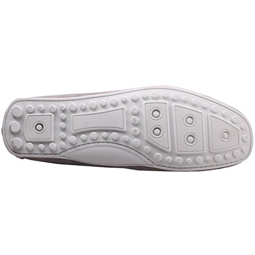 Cuero Mocasines Zapatos Para Hombre Grisby Gris Unze De tO7nWBc6q