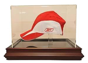 Boardroom, mahagany base, cap case - Baseball Display Cases
