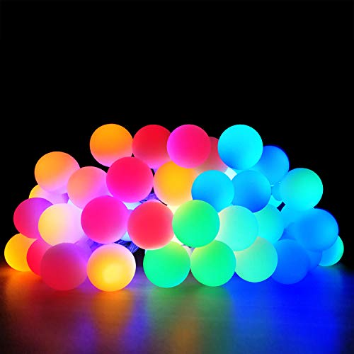 Acelone LED String Lights 20 ft with 40 LEDs, Waterproof and Antifreeze,Outdoor & Indoor Decorative Lights for Bedroom, Christmas,Garden, Patio, Parties. Battery or USB Powered(Multi Color)