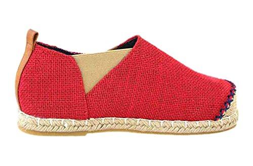 Alpargatas De Mujer Soojun Splice Slip On Loafer Red
