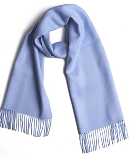 (Luxury 100% Pure Baby Alpaca Scarf, for Men and Women - A Great Gift Idea in Many Colors (Baby Blue))