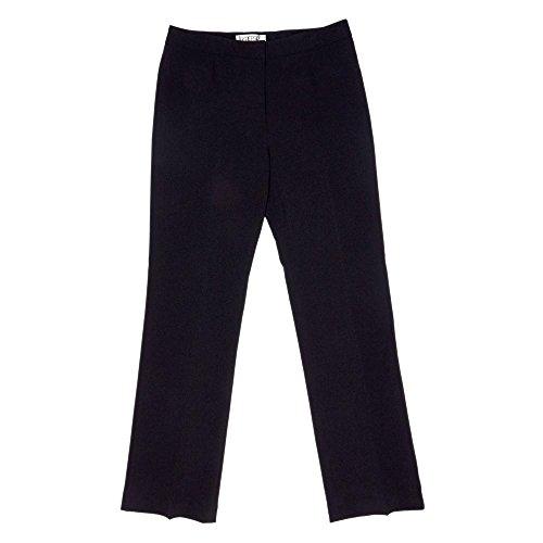Kasper Women's Stretch Crepe Kate Trouser Pant, Black, 4 (Black Crepe Suit)