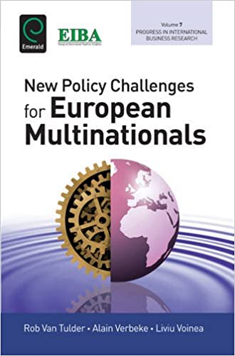 New Policy Challenges for European Multinationals (Progress in International Business Research)