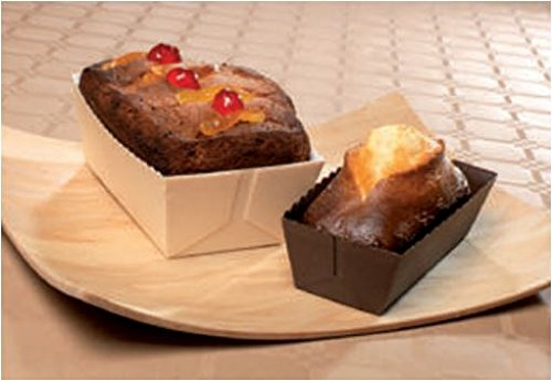 Easy Bake Paper Mini Loaf Pans - Small Rectangle Loaf 3 1/8 x 1 9/16x 1 5/8- Brown - 25pcs