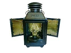 Dietz Beach Oil Lamp Lantern Black Metal Square with Side Doors