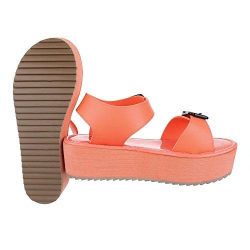 Ital-Design - Sandalias de vestir de Material Sintético para mujer Coral
