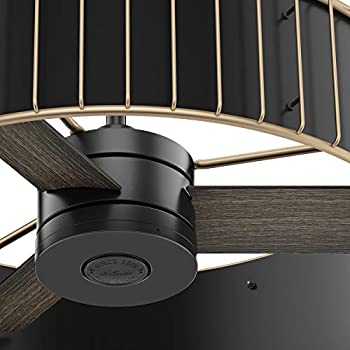 Hunter Fan 30 Inch Contemporary Matte Black Indoor Ceiling Fan With Remote Control Renewed