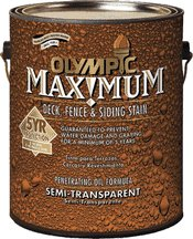 Olympic 79553a Semi-transparent Exterior Stain - Clove Brown - Base Semi Solid Oil