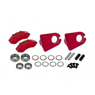 3RACING Integy RC Model Hop-ups 3RAC-AD12/V3D/RE Realistic Rear Brake Bot For 3RAC-AD12/V3 - Red