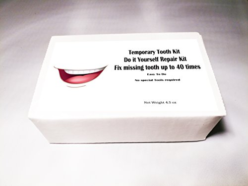 Temporary Missing Tooth Repair Kit Do it Yourself Repair Kit Dental Fix for up to 30 teeth