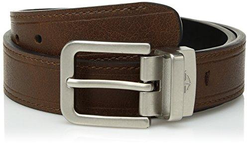 Dockers Big Boys Reversible Black-to-Brown Belt, Stitch, Large
