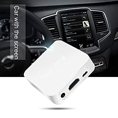 Mirascreen X7SmartSee Car WiFi Display Box, Airplay DLNA Miracast Screen Mirroring from Smart Phones to Car Screen Wirelessly, with HDMI and RCA(CVBS) Output GPS Navigation