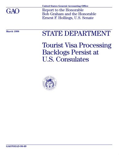 NSIAD-98-69 State Department: Tourist Visa Processing Backlogs Persist at U.S. Consulates
