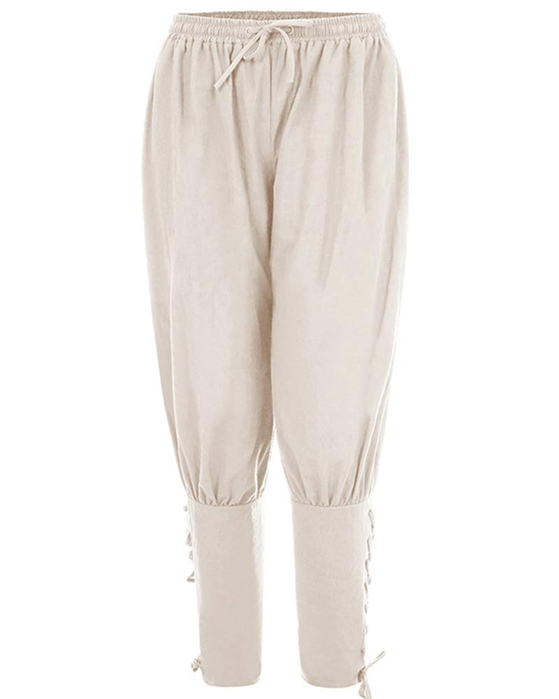 37ae014d6b Pantalones de Hombre Medievales Harem Pantalones Casuales Vikingo Suelto  Halloween Ropa  Amazon.es  Deportes y aire libre
