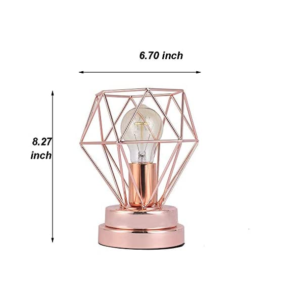 COTULIN Table Lamp,Modern Desk Lamp with Hollow Out Shade for Living Room Bedroom,Rose Gold -  - lamps, bedroom-decor, bedroom - 41wIgKMnJjL. SS570  -
