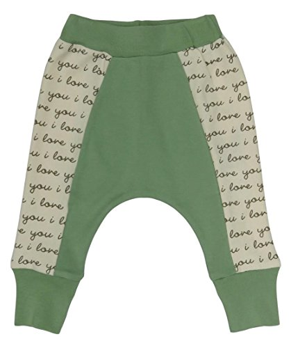 Cat & Dogma Certified Organic Baby Pants - I Love You/Sage (6-12 Months)