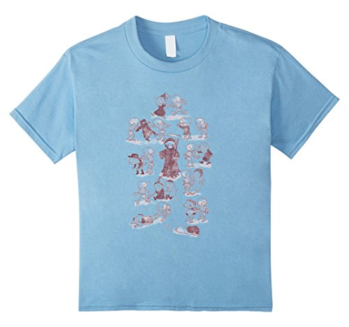 Kids The Cute Triumph Of Death T Shirt for Men and Women 12 Baby Blue - Comedic Halloween Costumes